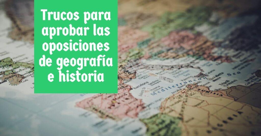 Trucos para aprobar las oposiciones de geografia e historia (1)